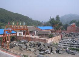 石材厂外部全景图